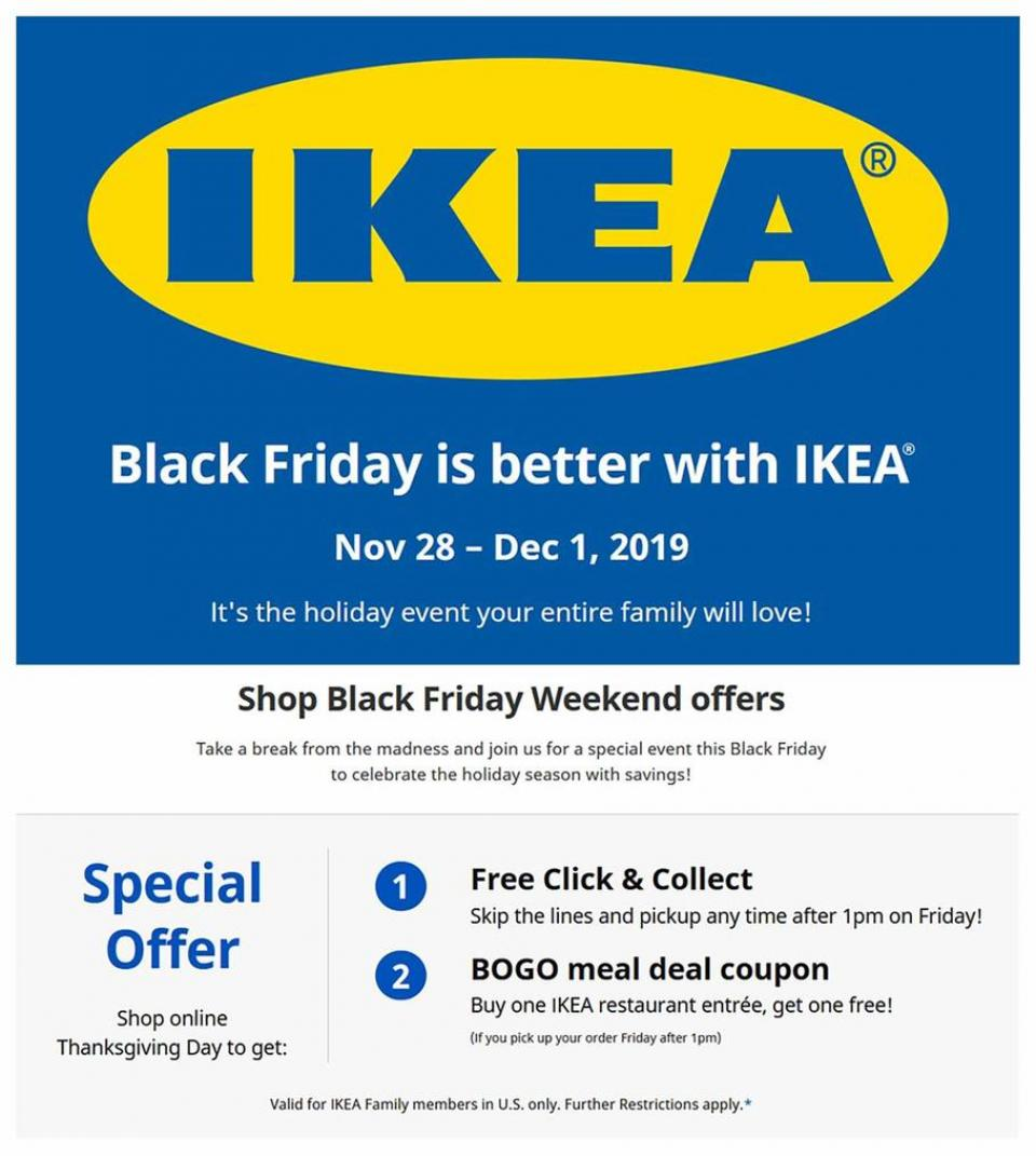Ikea black friday ad