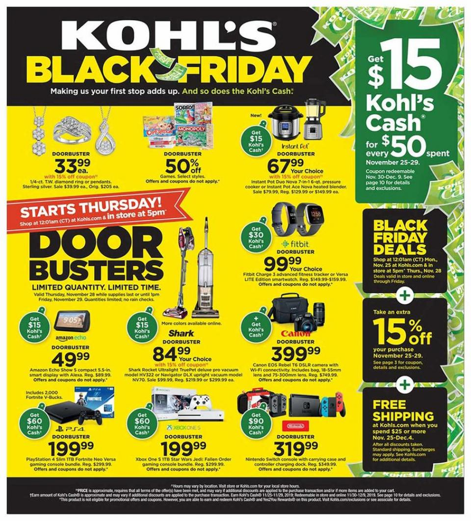 Kohl's black friday ad