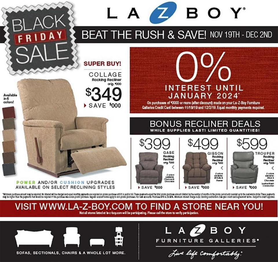 La Z Boy black friday ad