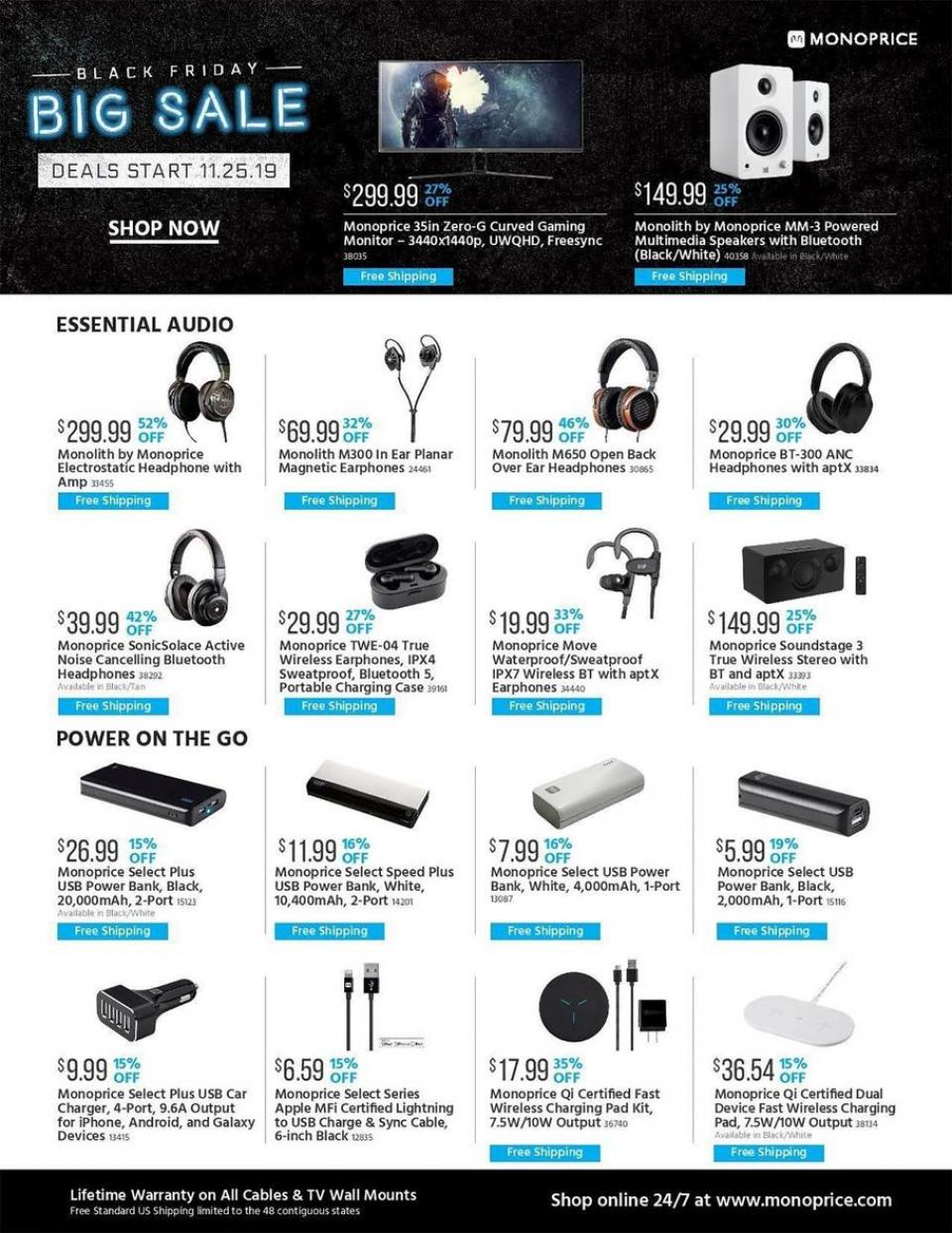 Monoprice black friday ad