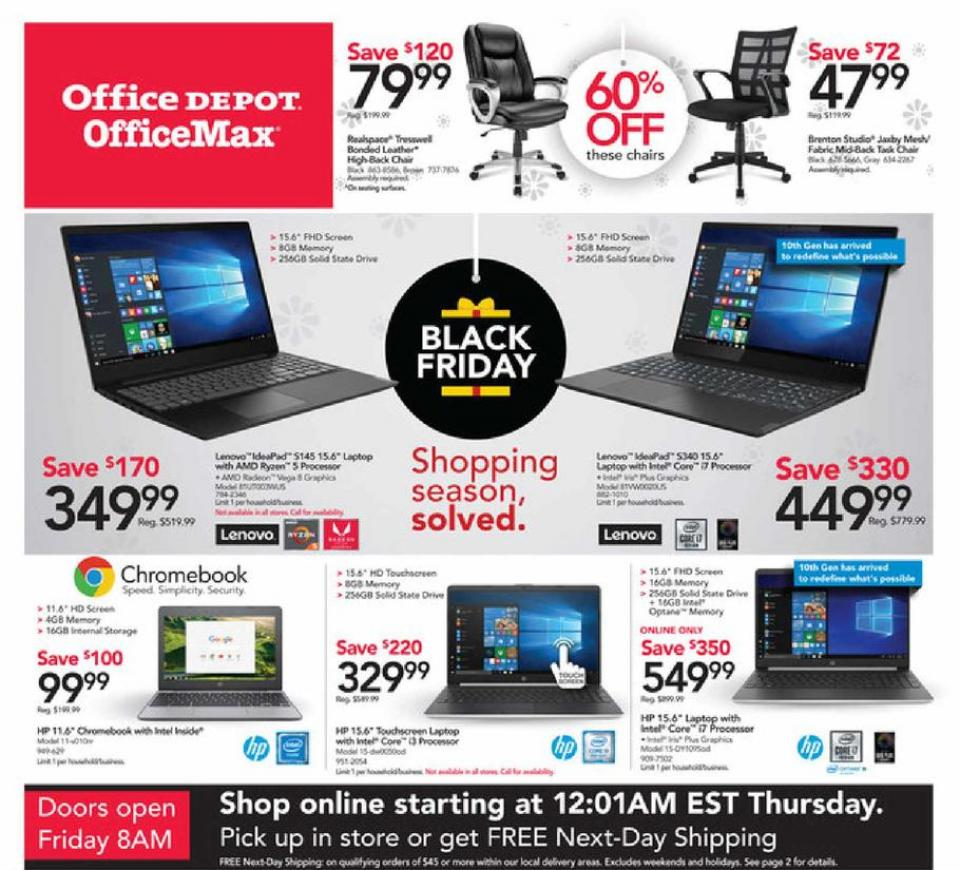 Office Depot black friday ad