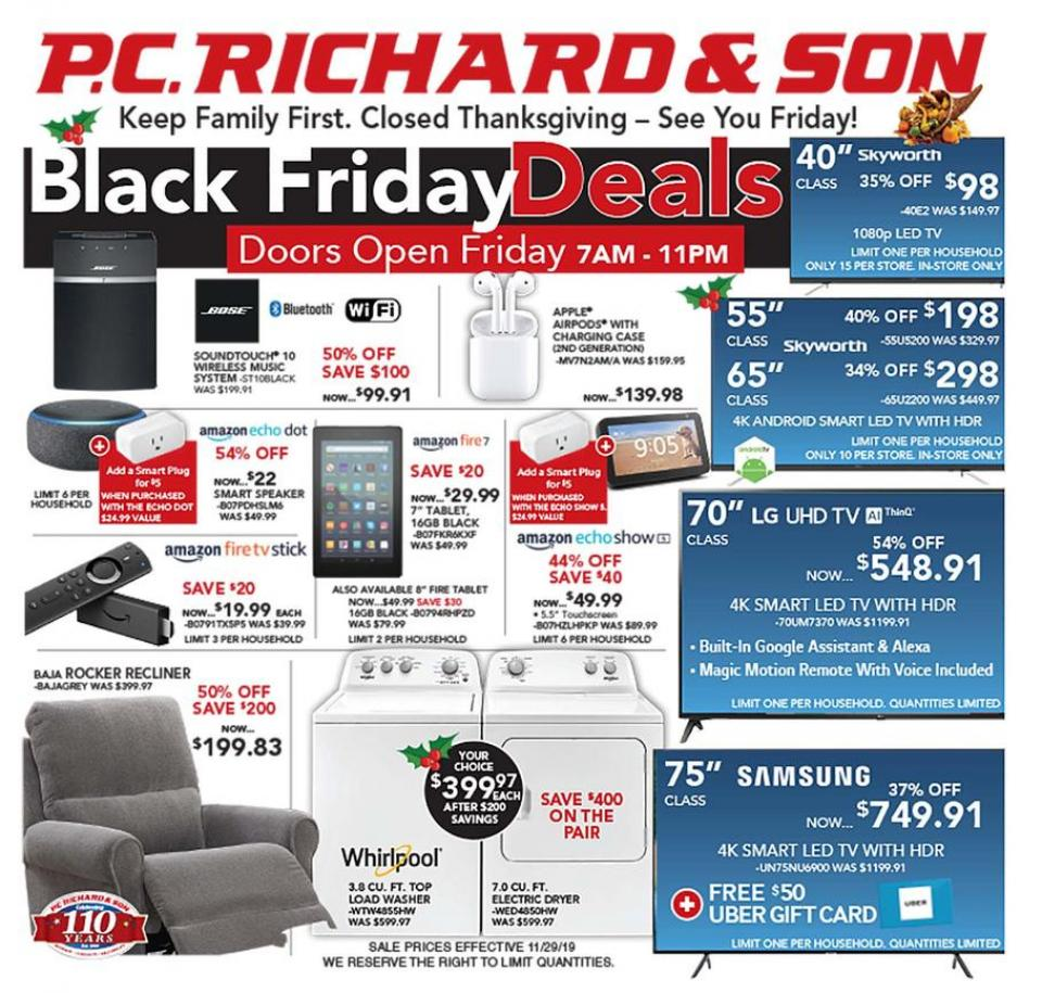 P.C. Richards and Son black friday ad