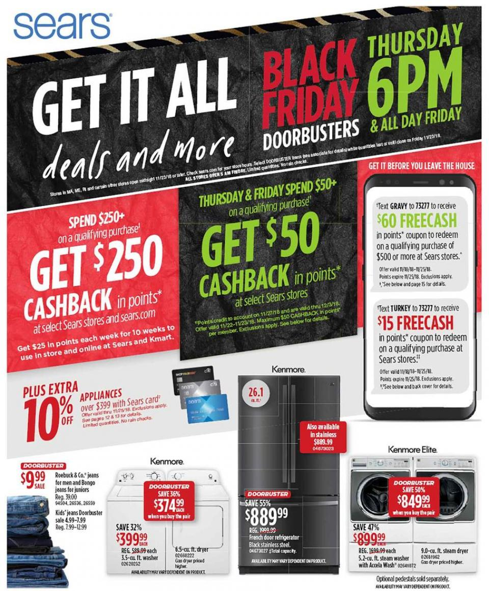 sears black friday ad 2018. Black Bedroom Furniture Sets. Home Design Ideas