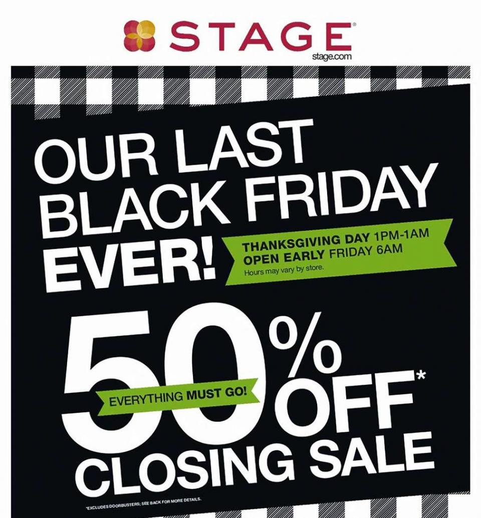 Stage Stores black friday ad