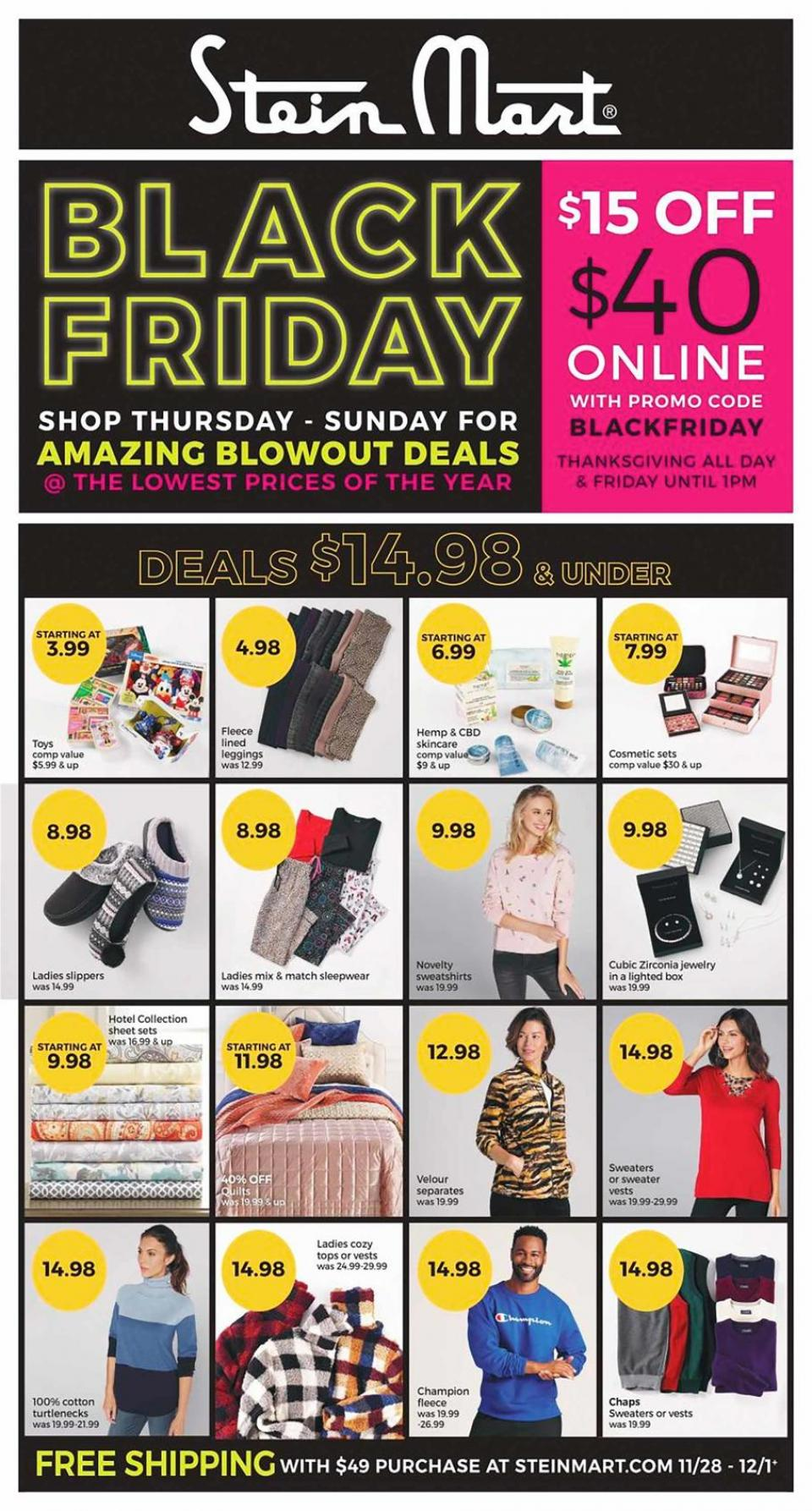 Stein Mart black friday ad