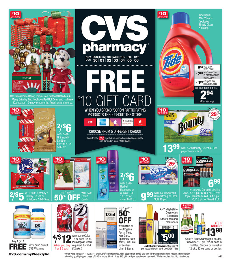 cvs christmas ads pharmacy and gifts