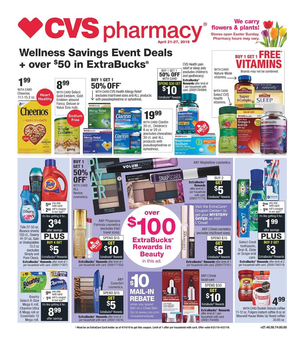 cvs weekly ad apr 21 2019