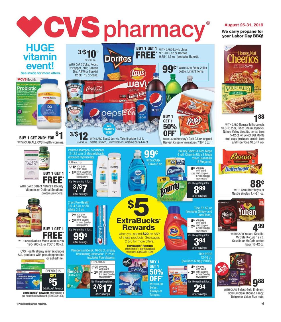 cvs weekly ad aug 25 2019