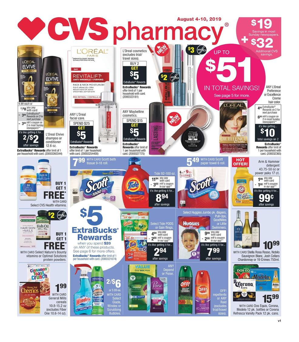 cvs weekly ad aug 4 2019