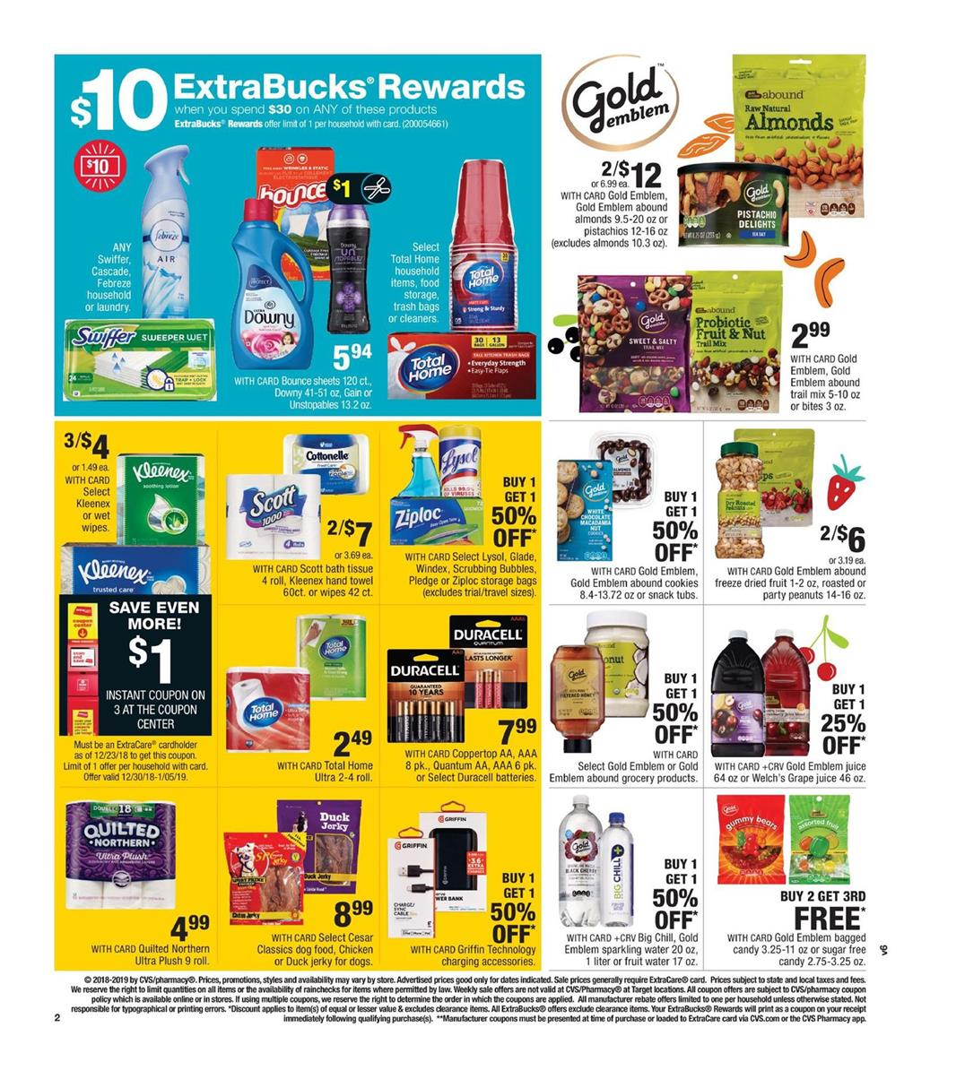 cvs weekly ad dec 30 2018