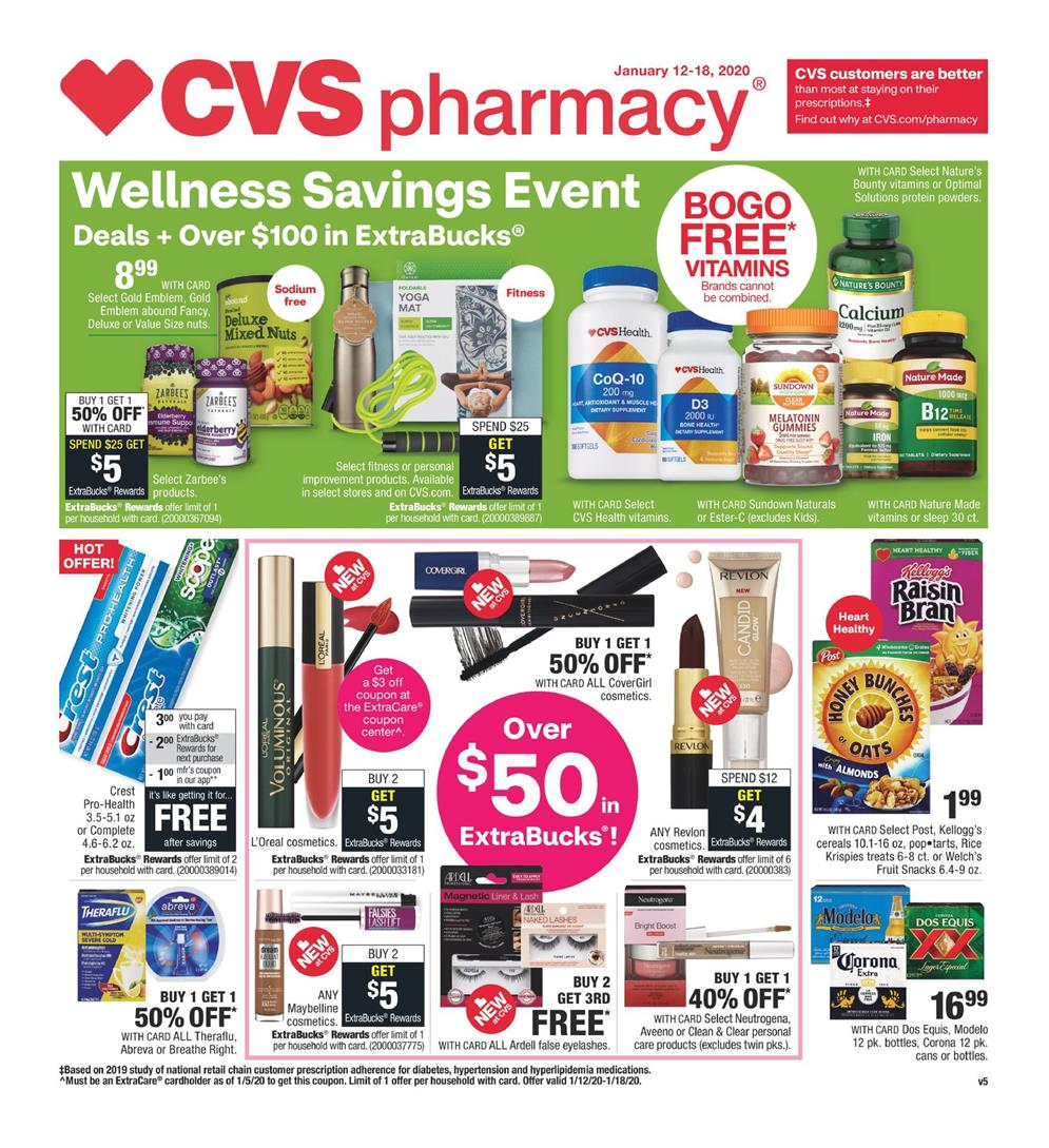cvs weekly ad jan 12 2020