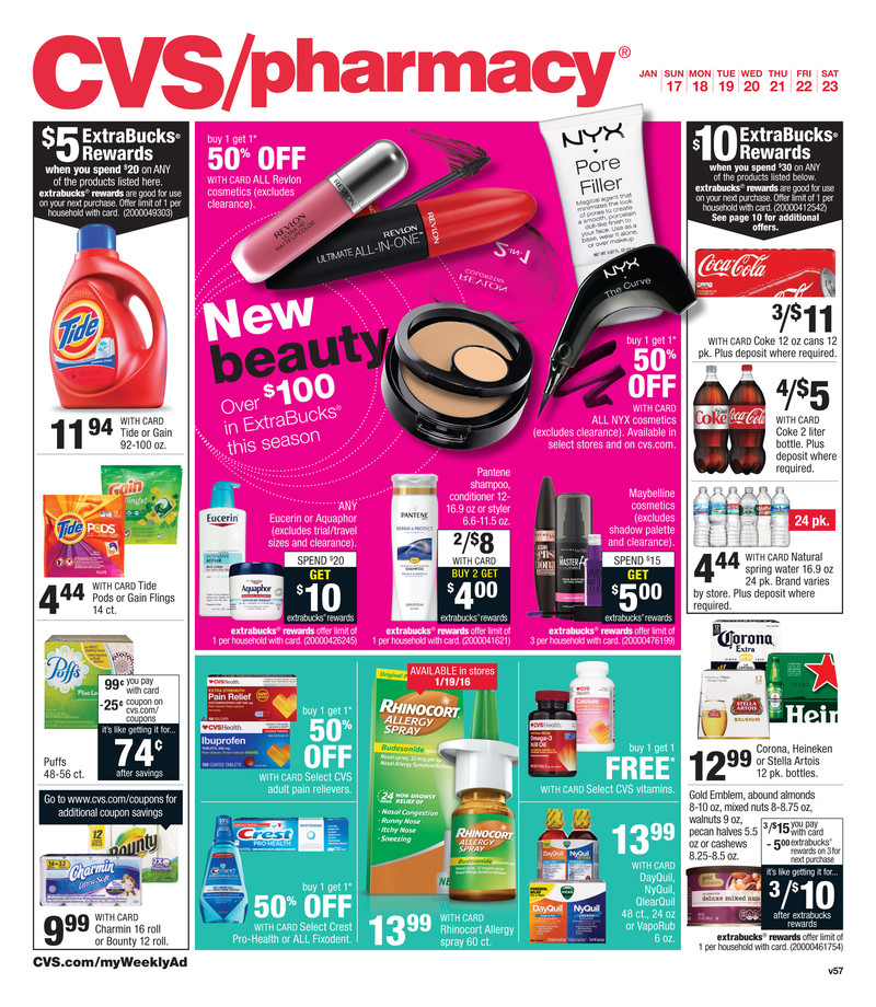 cvs weekly ad jan 17 2016