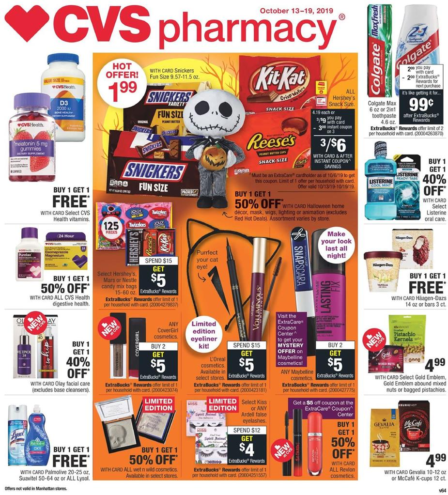 cvs weekly ad oct 13 2019