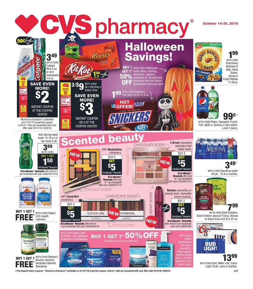 cvs weekly ad oct 14 2018