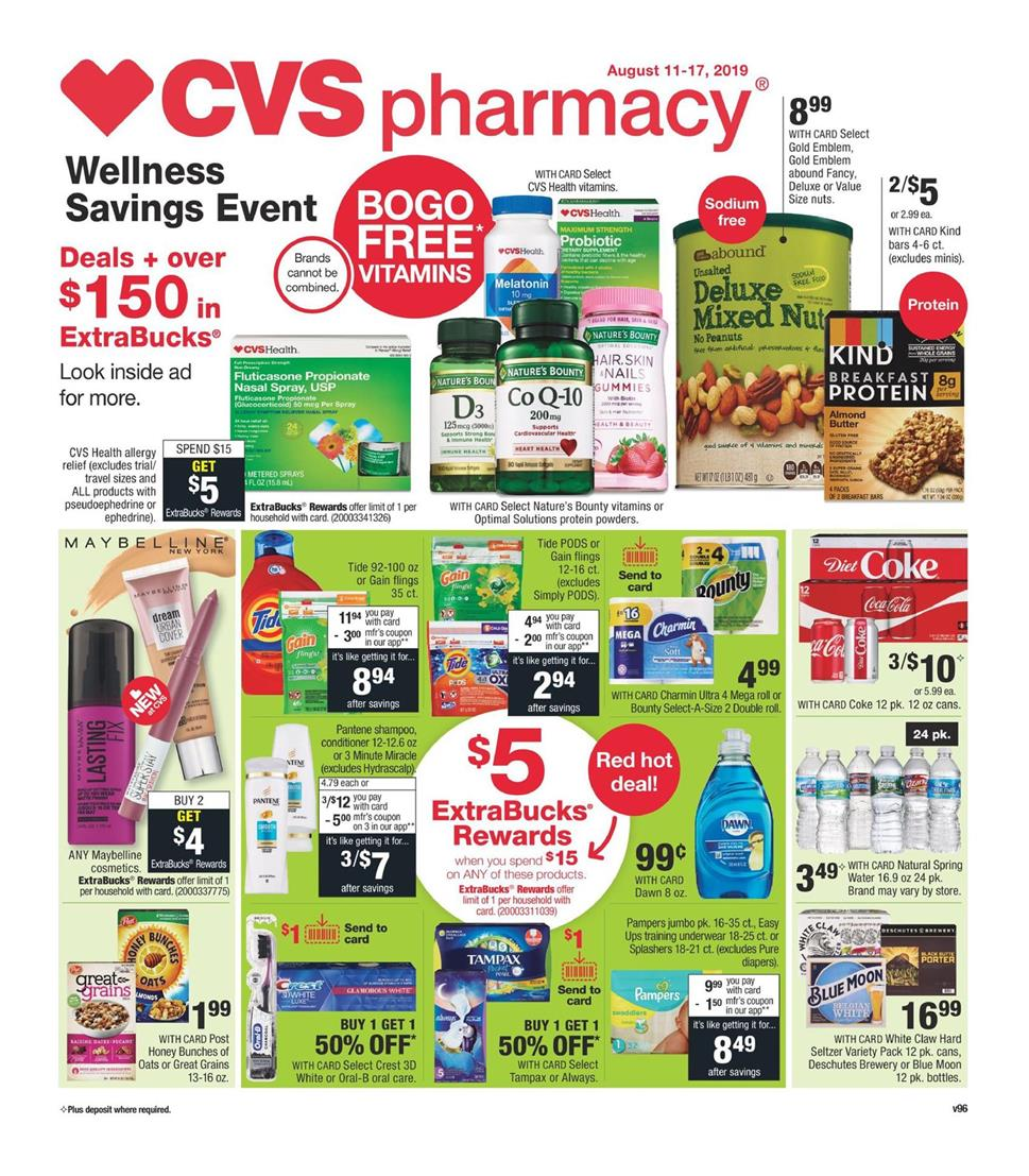 cvs weekly ad preview aug 11 2019