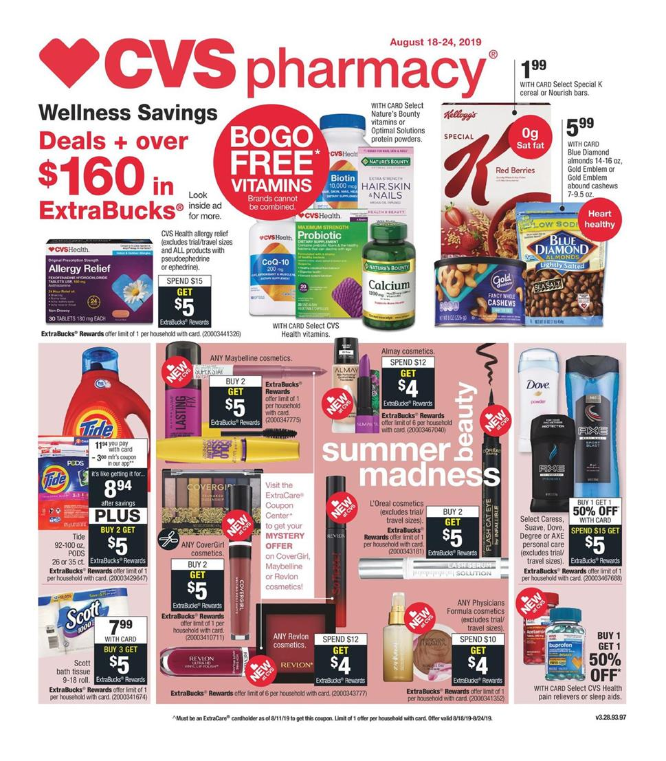 cvs weekly ad preview aug 18 2019