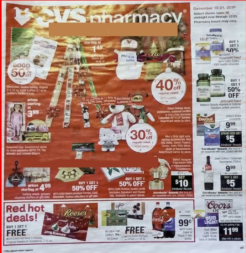 cvs weekly ad preview dec 15 2019