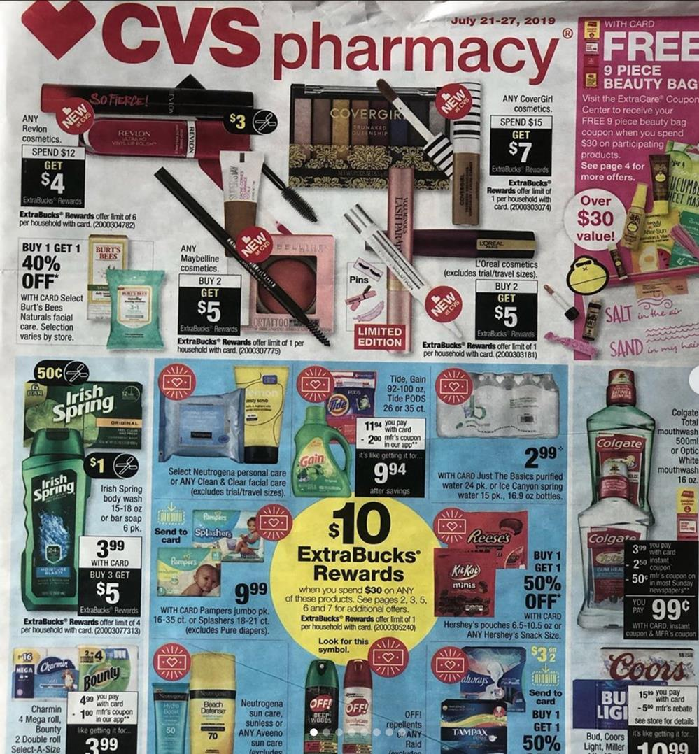 cvs weekly ad preview jul 21 2019