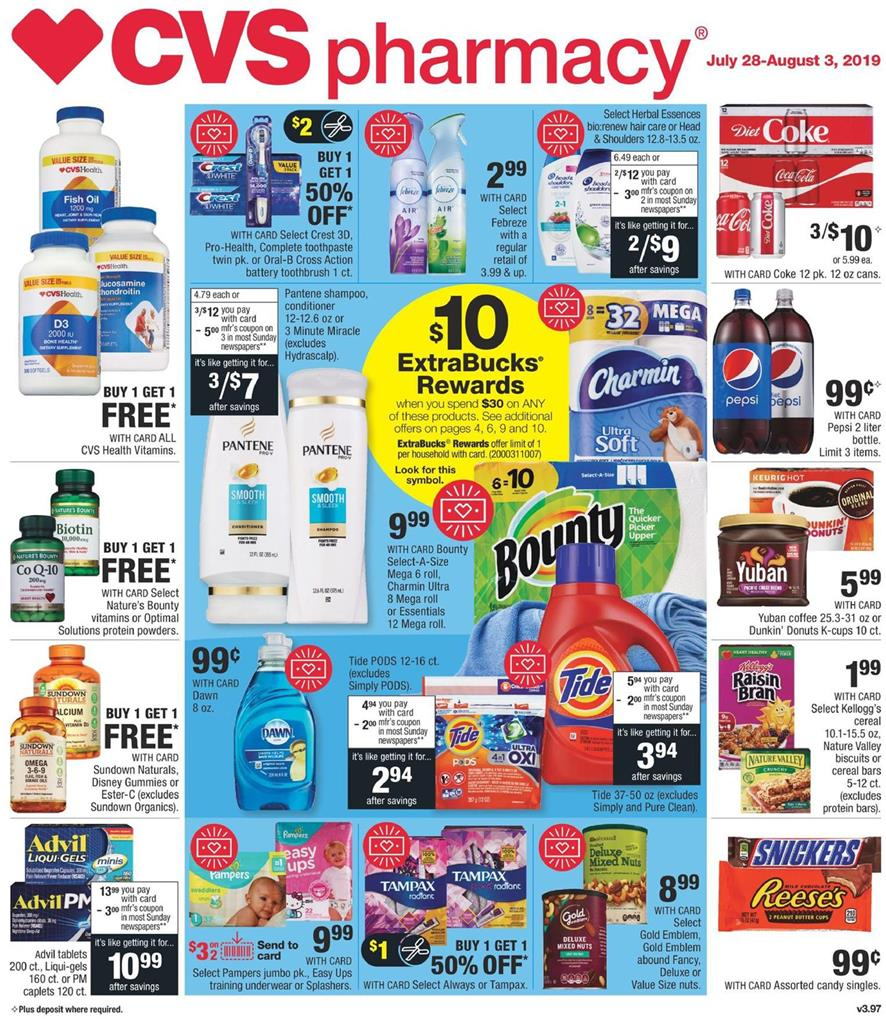 CVS Weekly Ad Preview Jul 28 - Aug 3, 2019