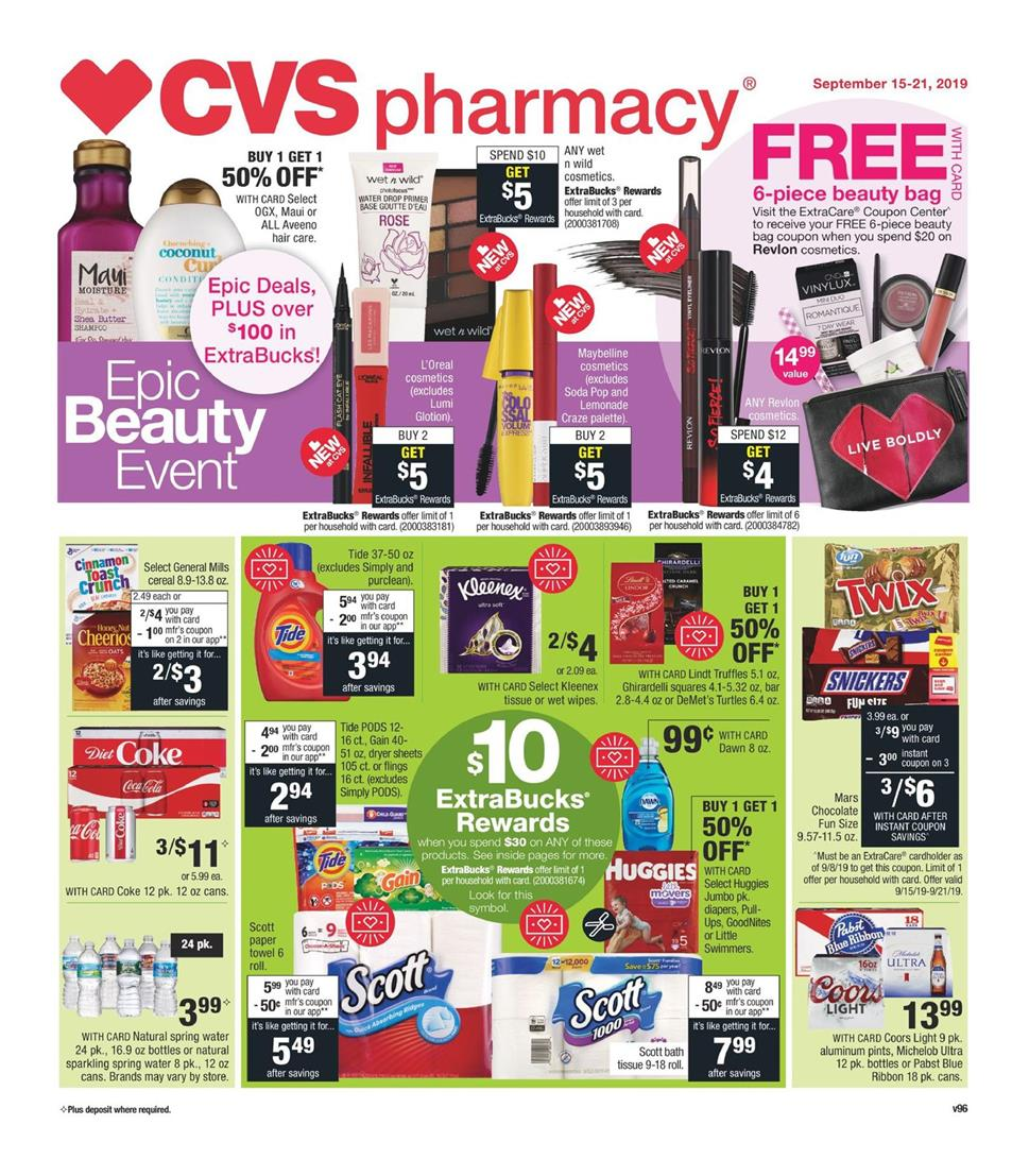 cvs weekly ad preview sep 15 2019
