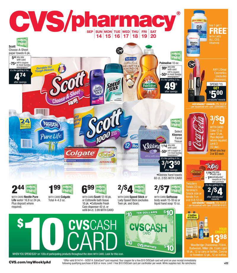 cvs weekly ad preview september 14