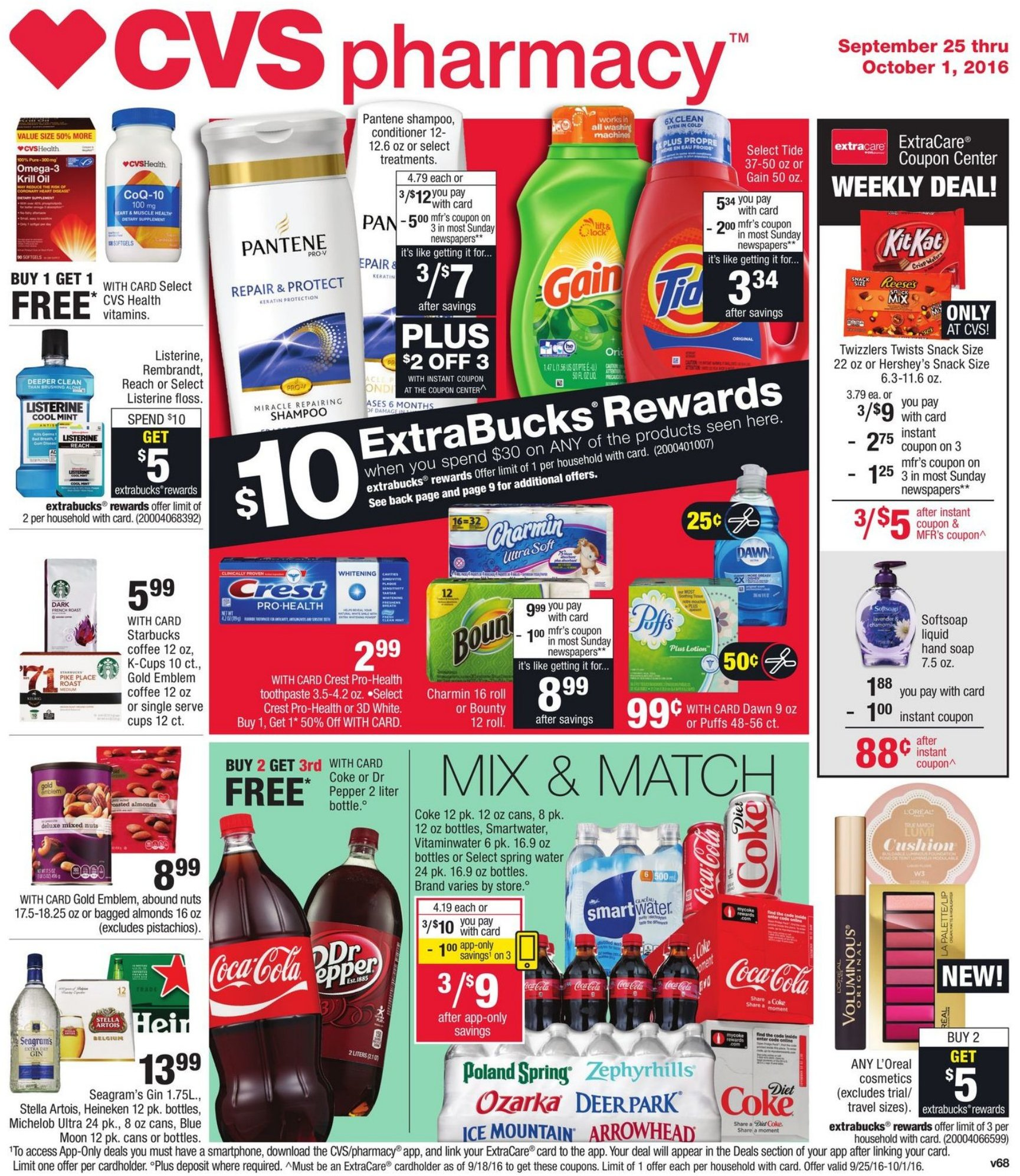 cvs weekly ad september 25 2016