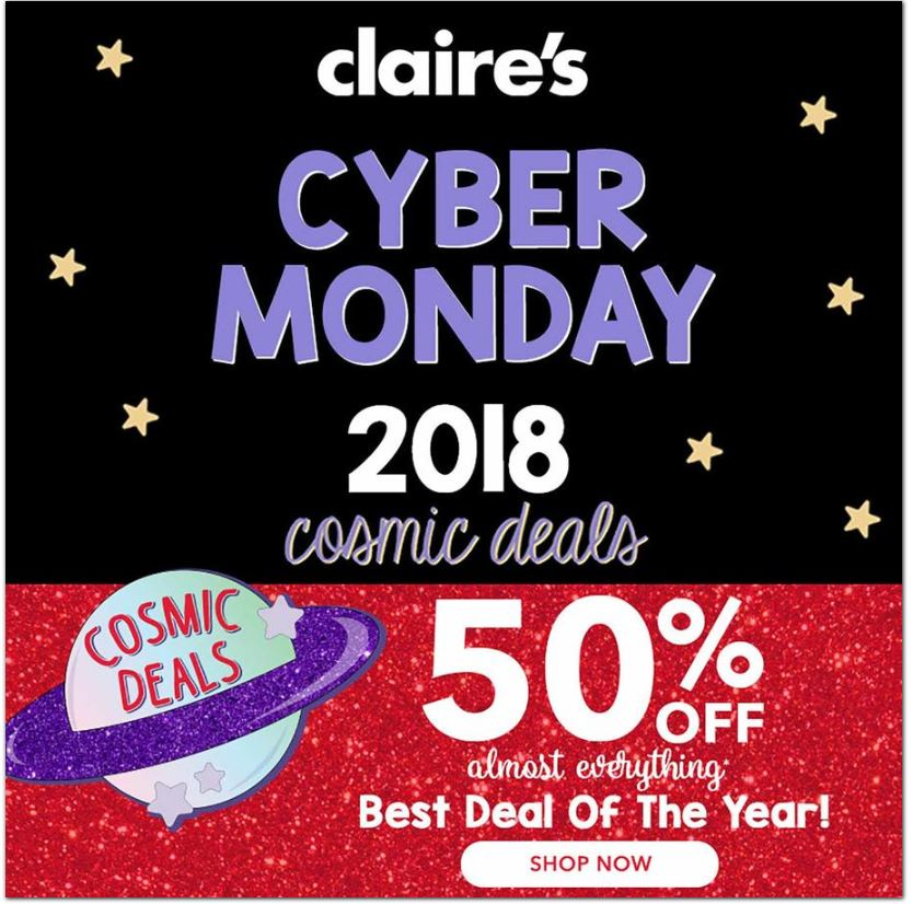 claires cyber monday ad 2018