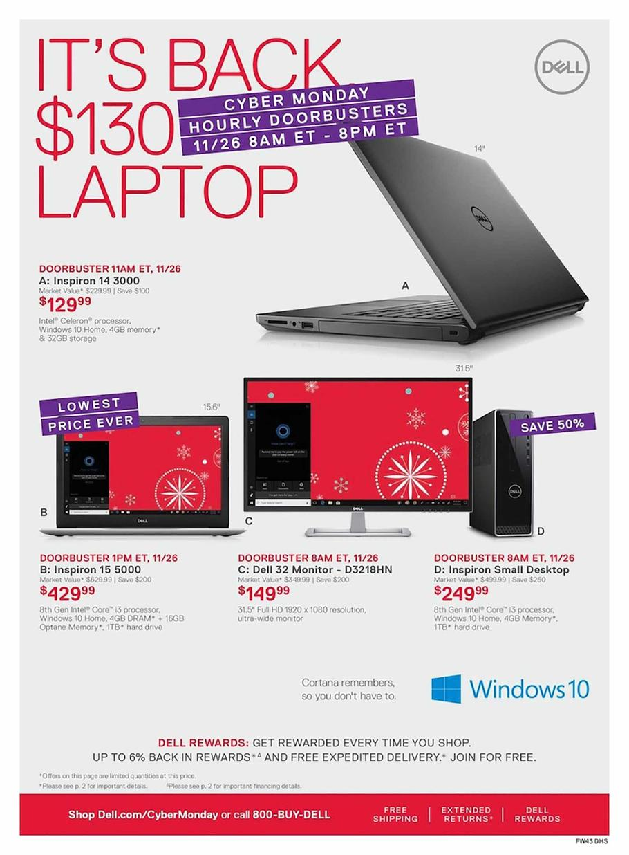 dell cyber monday ad 2018