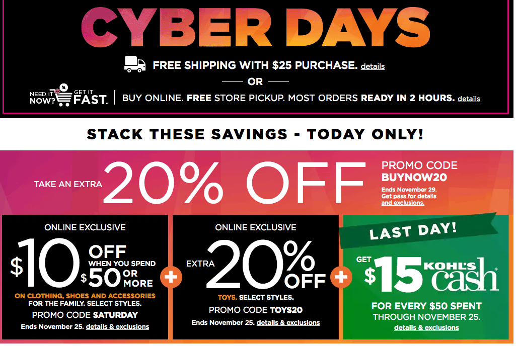 Target Cyber Monday Ads >> Kohl's Cyber Monday Ad 2017