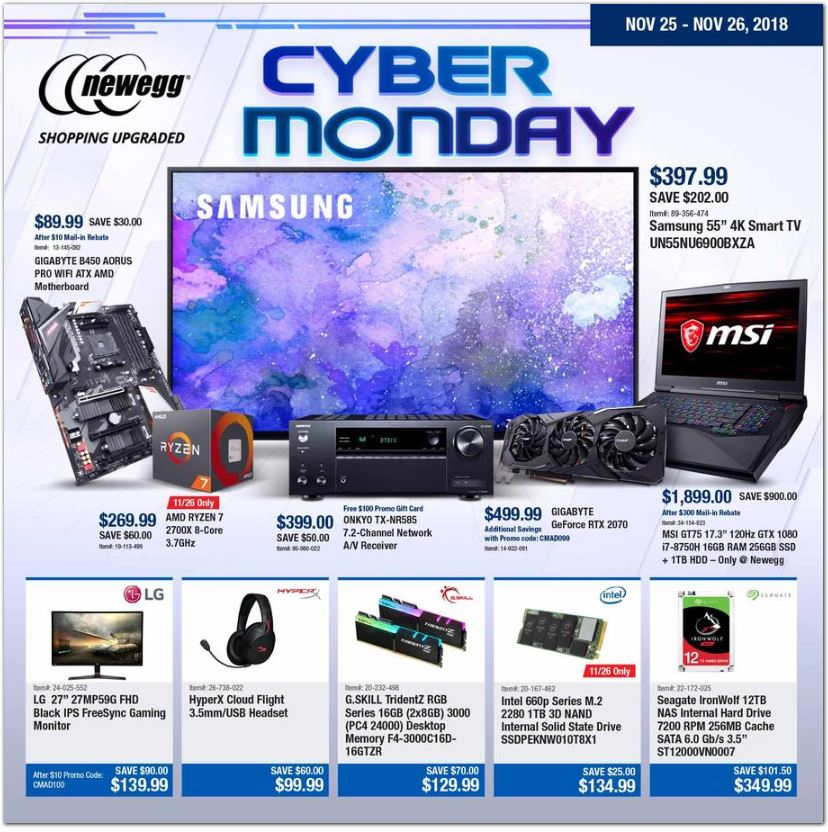 newegg cyber monday ad 2018