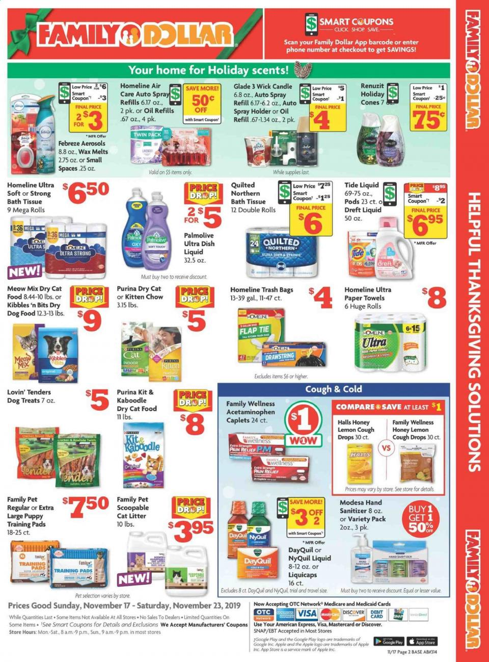 Family Dollar Ad Deals Nov 17 - 23, 2019