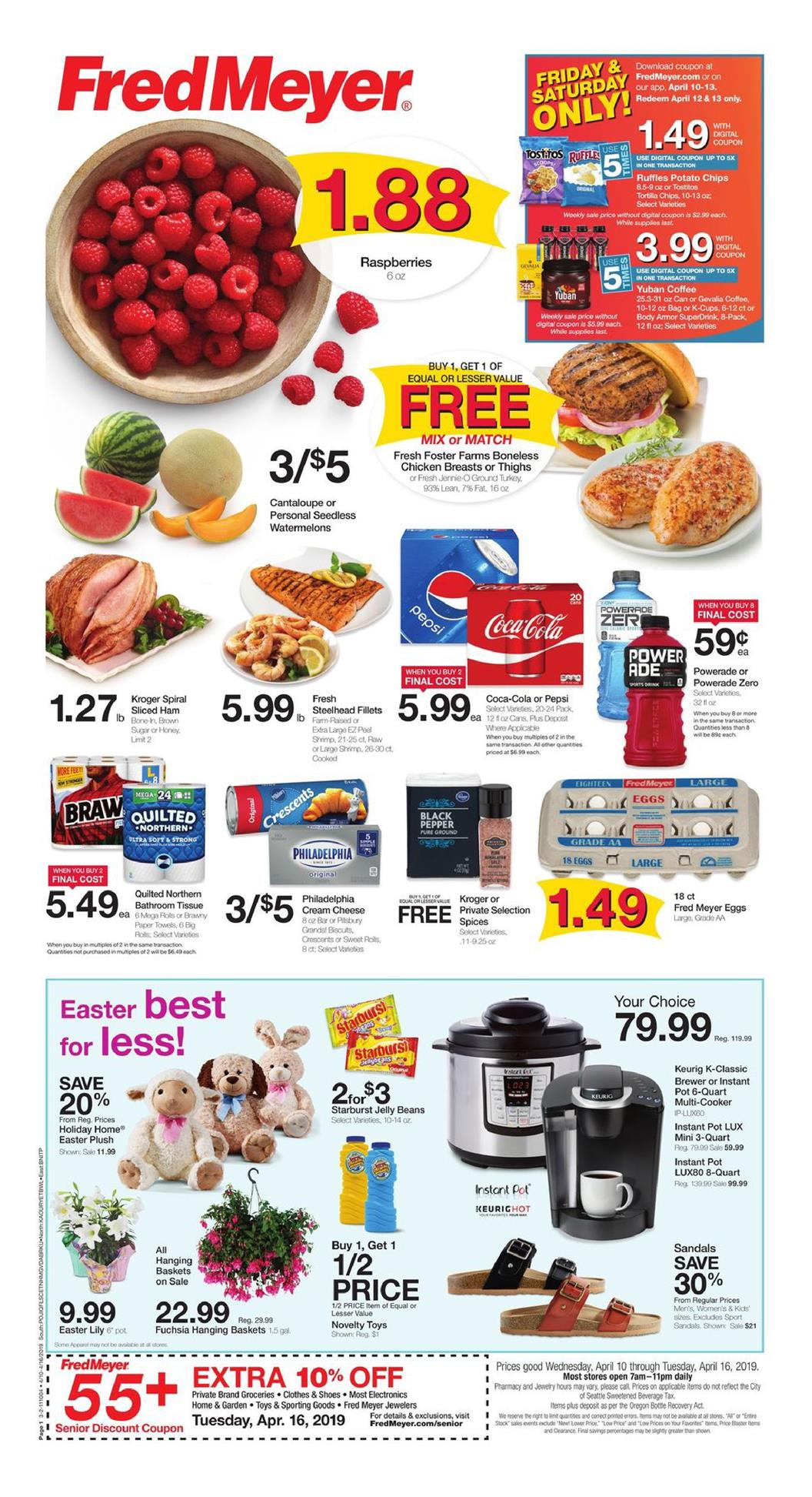Fred Meyer Weekly Ad Apr 10 16 2019