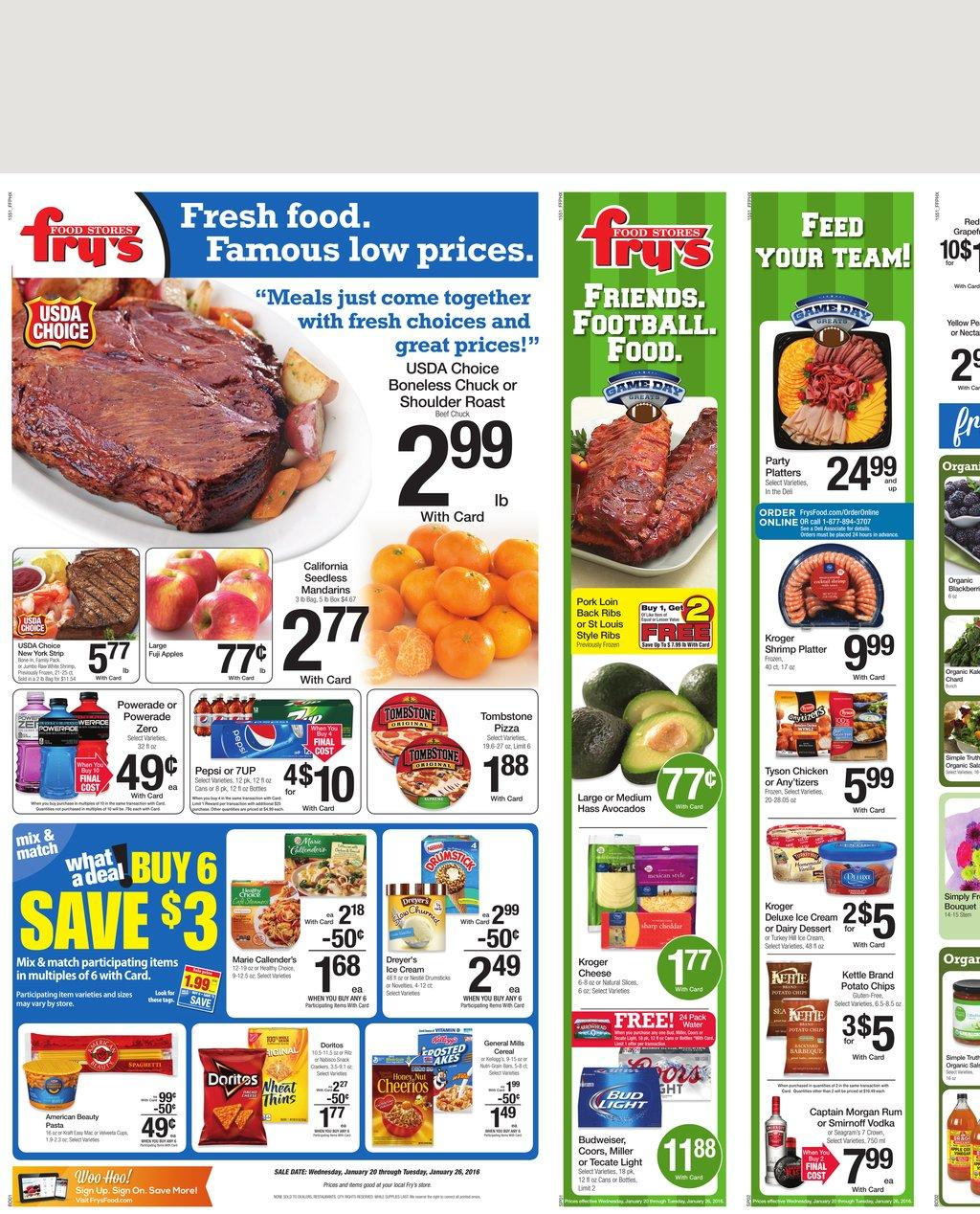 View your Weekly Ad Fry's Food Stores online. Find sales, special offers, coupons and more. Valid from Nov 28 to Dec