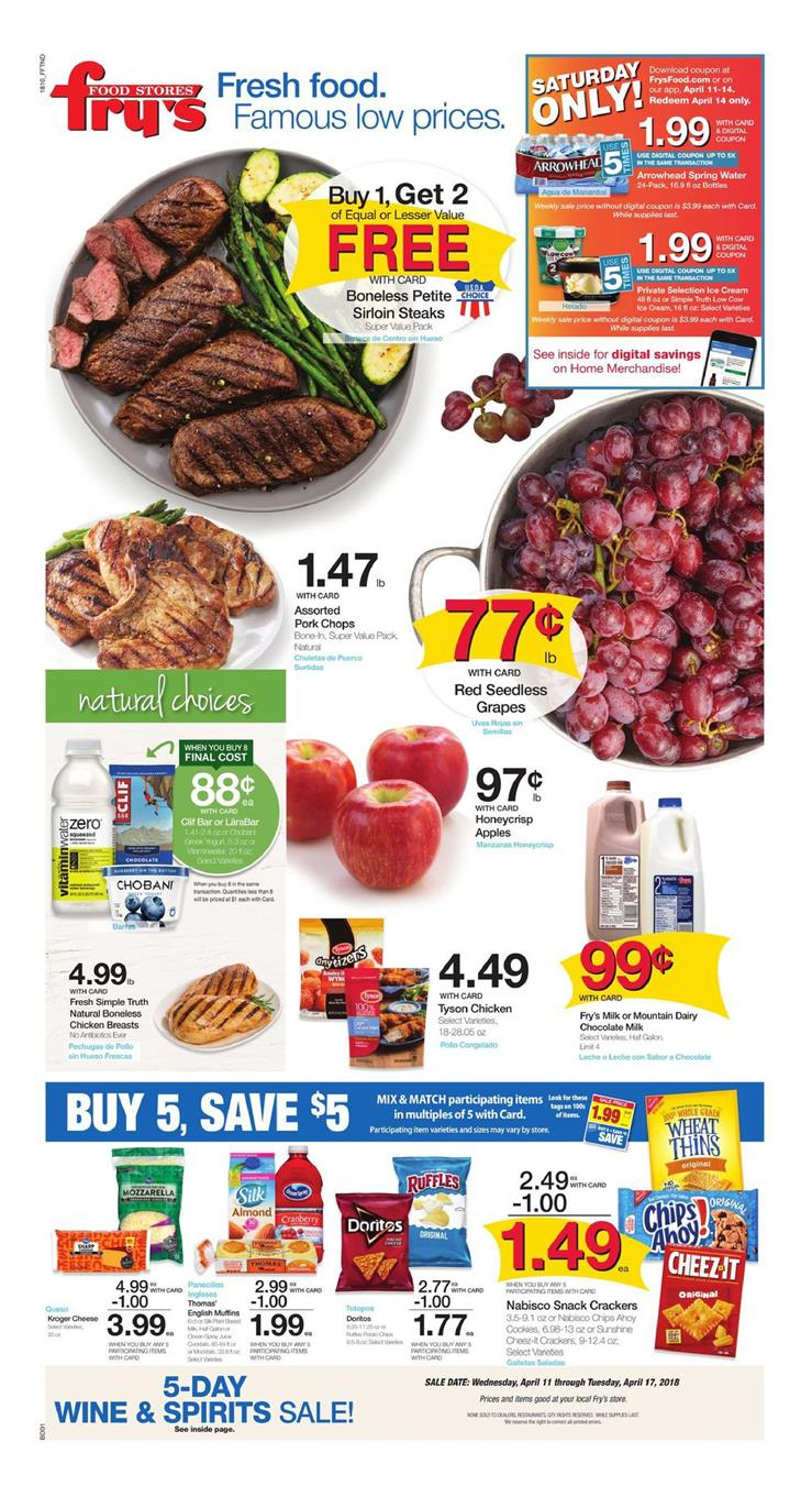 frys weekly ad april 11 2018