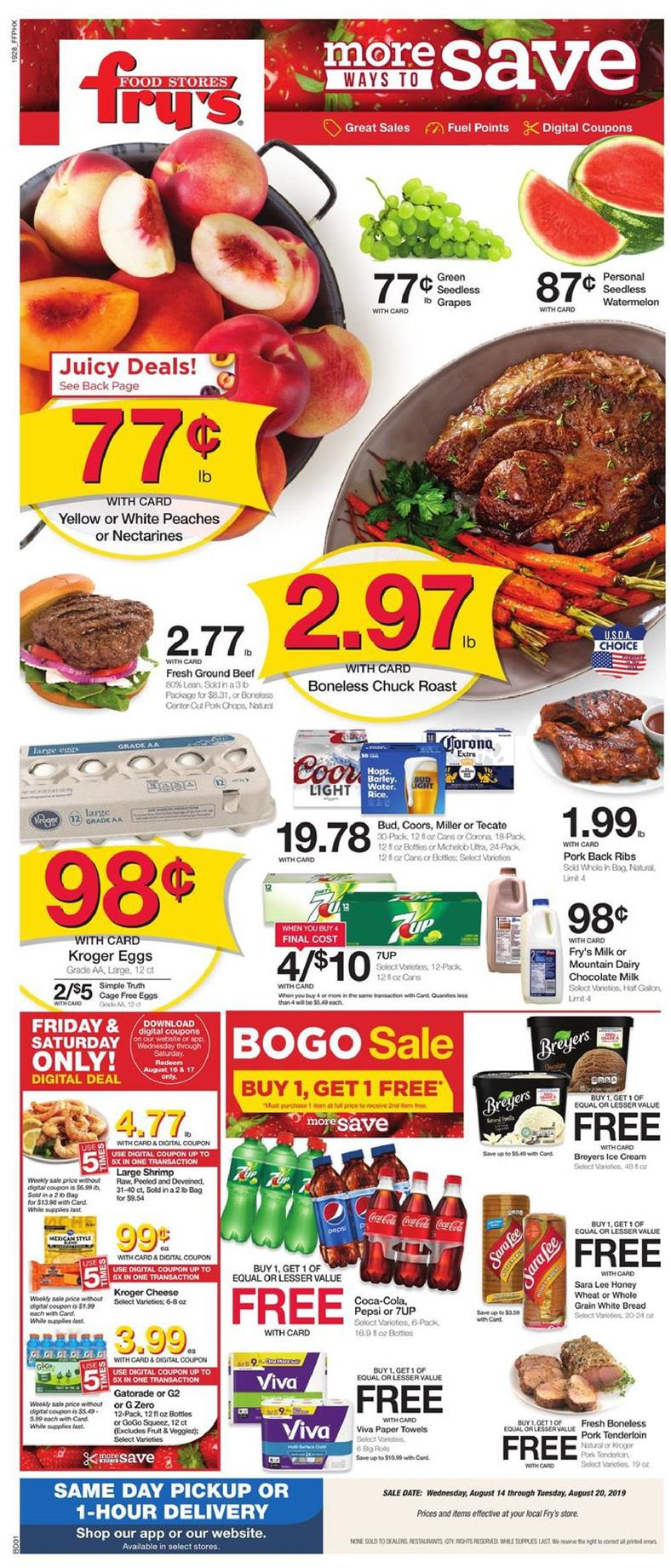 frys weekly ad aug 14 2019