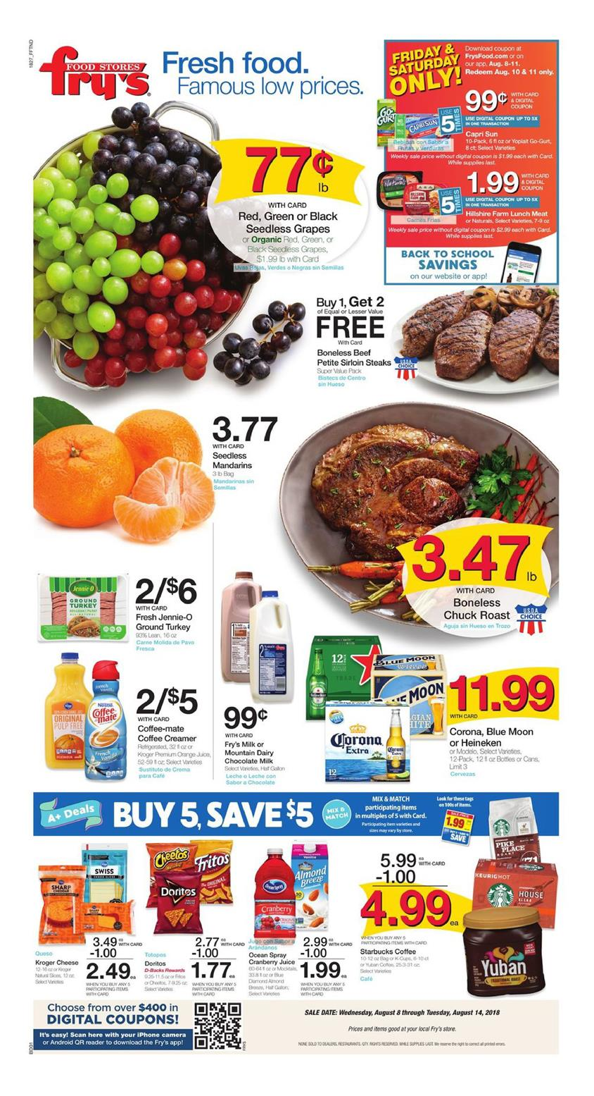 frys weekly ad aug 8 2018