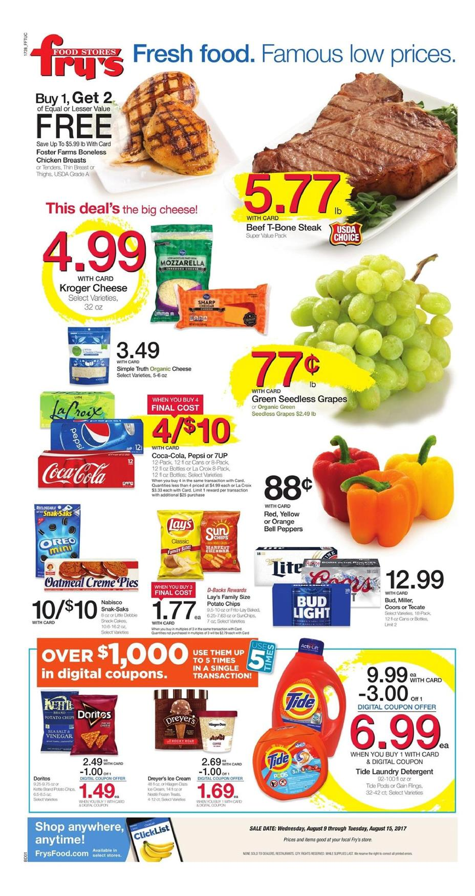 Smith's grocery store digital coupons