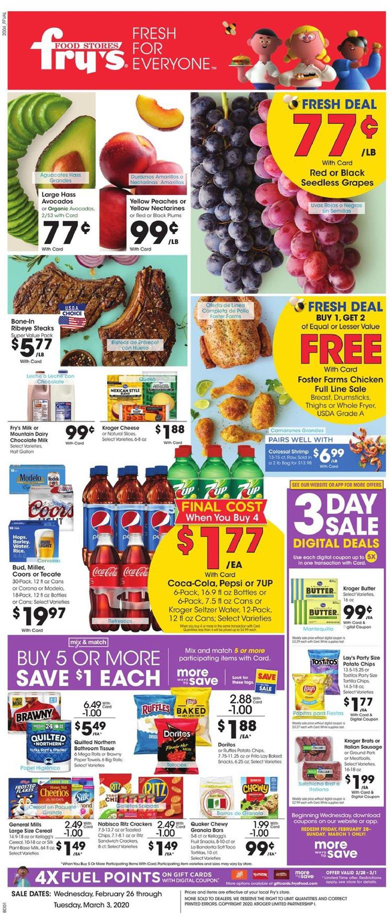 frys weekly ad feb 26 2020
