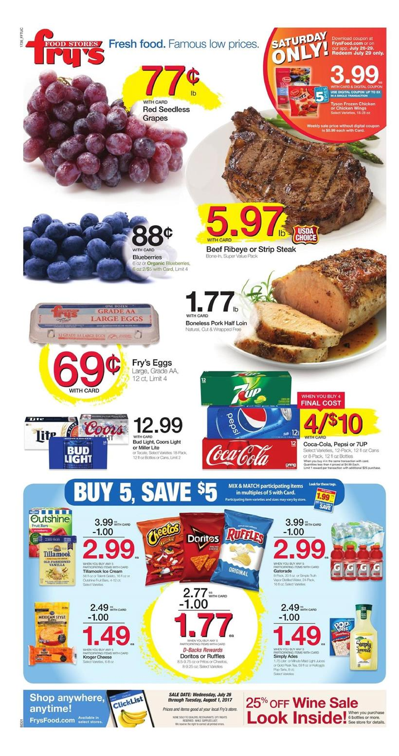 Fry's Food line of private brands includes Pet Pride, Bakery Fresh Goodness, Private This Week Specials · This Week Sale Ad · Local Ad Specials · Weekly Specials.