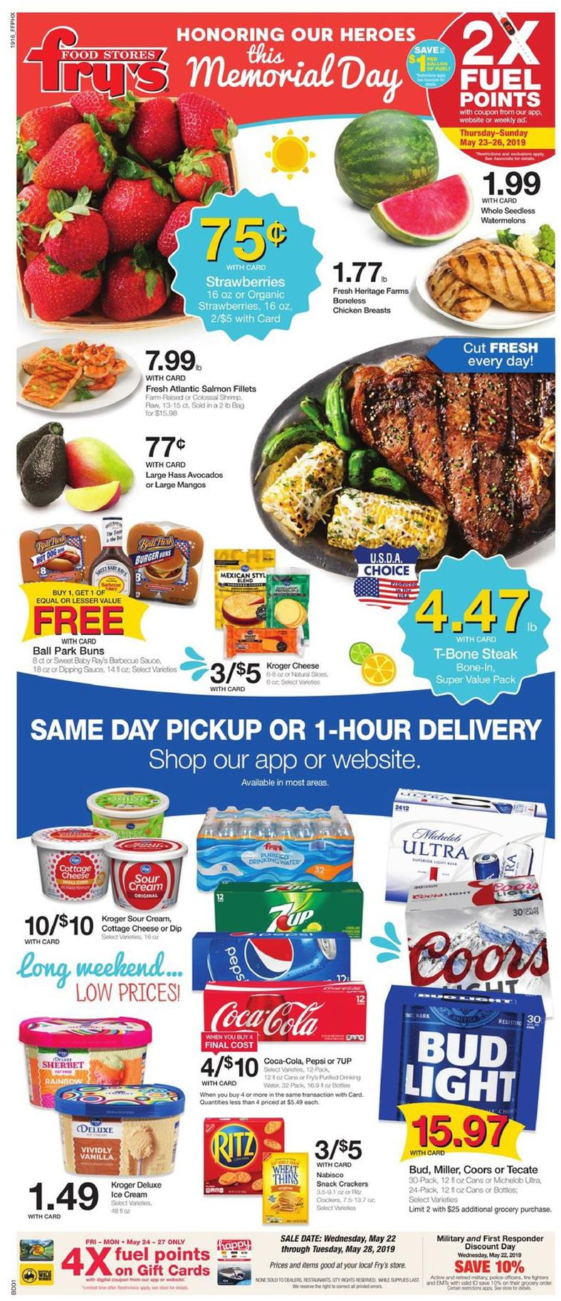 frys weekly ad may 22 2019