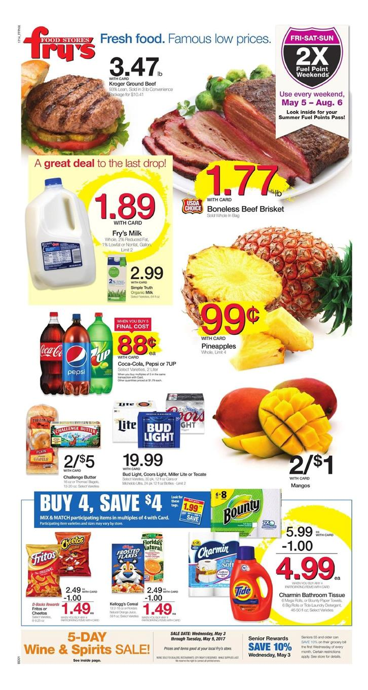 Find the latest weekly circular ad & Sunday flyer for Fry's Food here. Also, save with coupons and the latest deals from Fry's Food. Find the latest weekly circular ad & Sunday flyer for Fry's Food here. Also, save with coupons and the latest deals from Fry's Food. Fry's Food Weekly Ad Circular Weekly Ad Circular for Fry's Food. Week of.