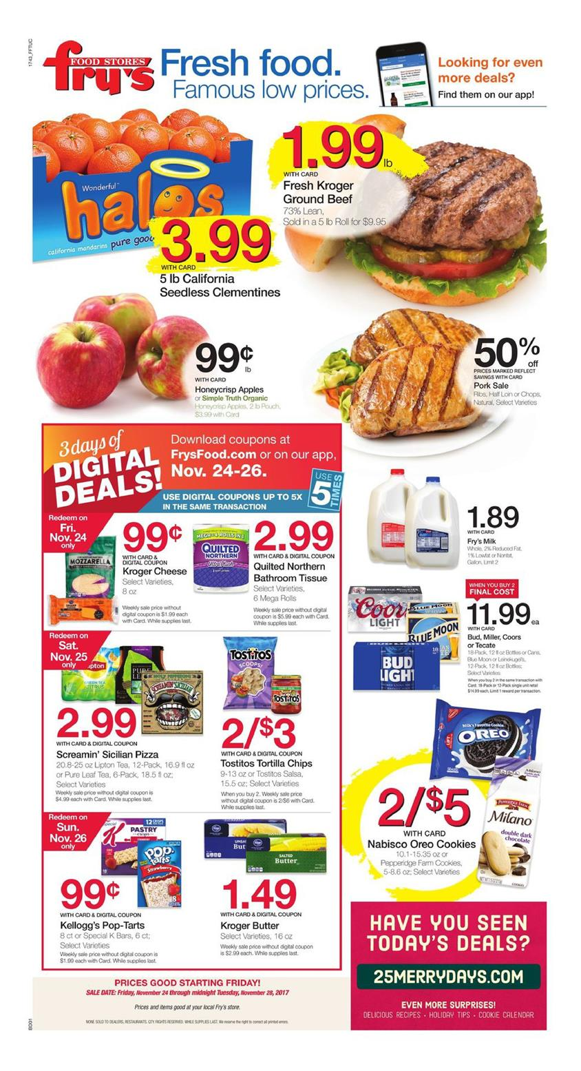 Fry's Ad Dec 5 – 11, , contains new food and grocery products. Deals are viewable in the ad. Check this category to see all weekly ads in this store. Black Friday Ads; Within the new Fry's Weekly Ad sale you can achieve great savings. Fry's food and drug stores serve in Arizona.