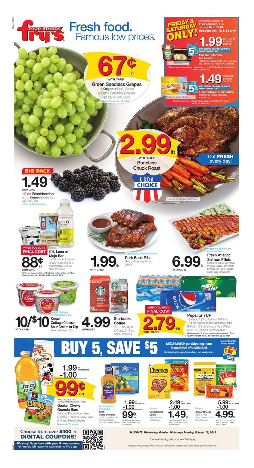 frys weekly ad oct 10 2018