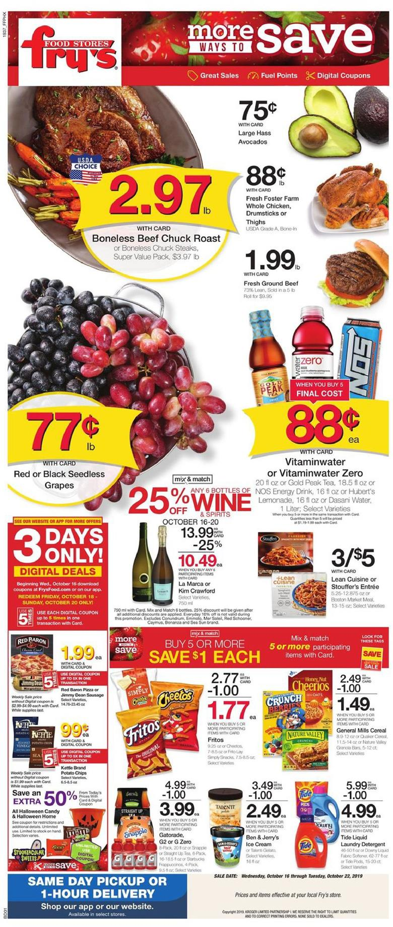 frys weekly ad oct 16 2019