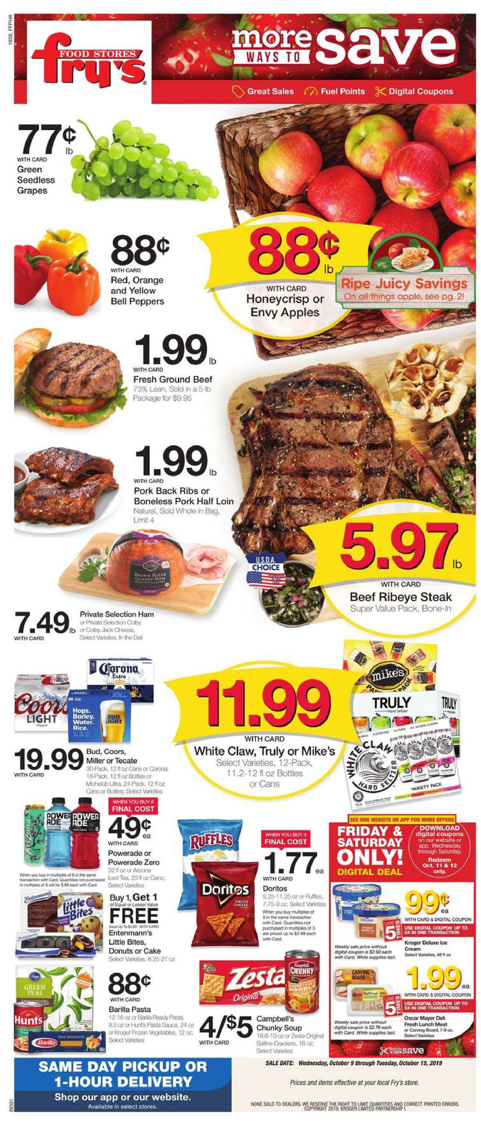 frys weekly ad oct 9 2019