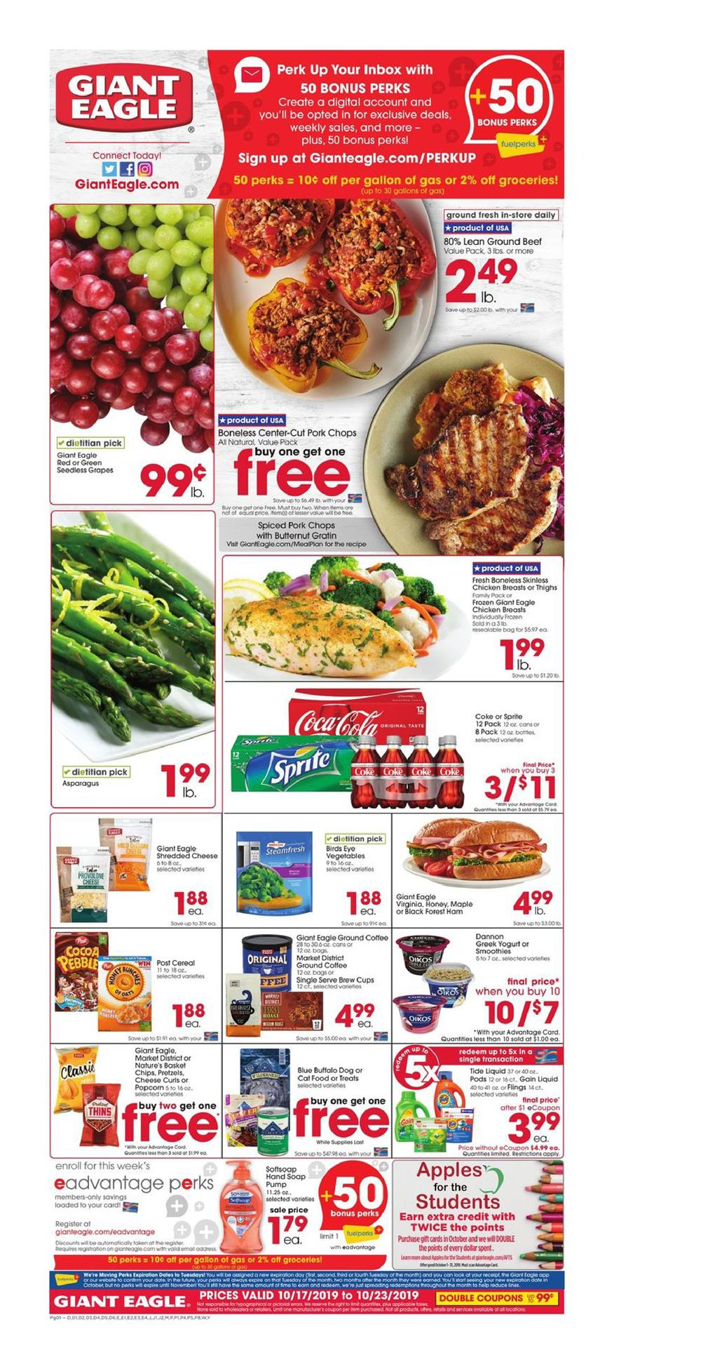 Cvs Pharmacy Coupons >> Giant Eagle Ad Oct 17 - 23, 2019