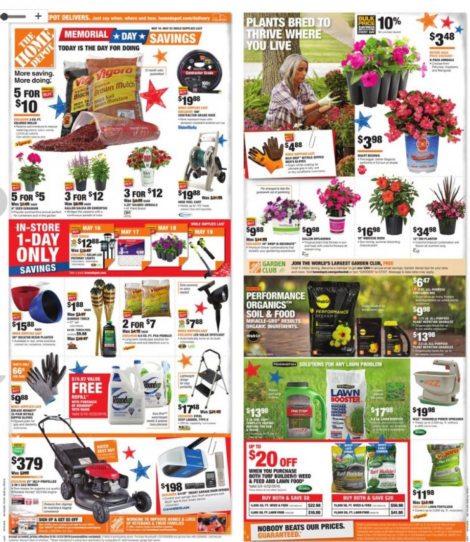 Home Depot Ad May 16 - 22, 2019