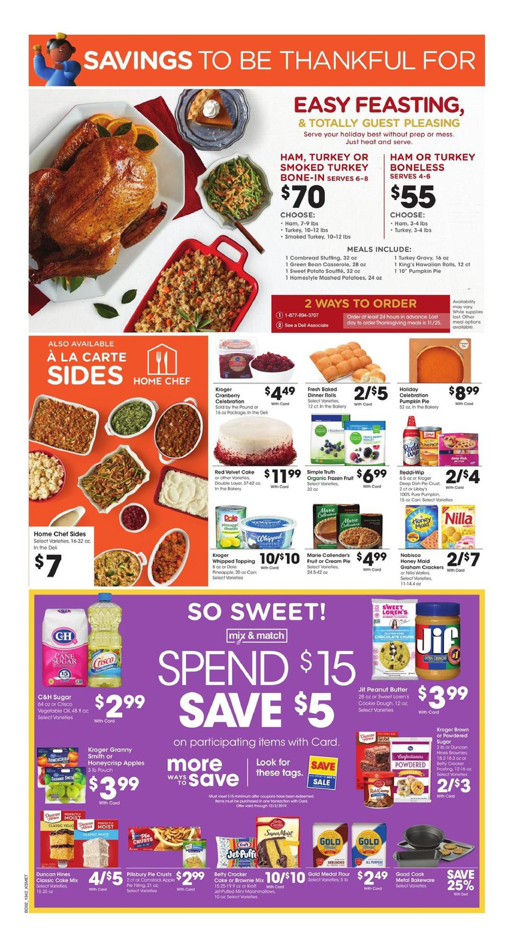 King Soopers Ad Thanksgiving Deals Nov 20 - 28, 2019