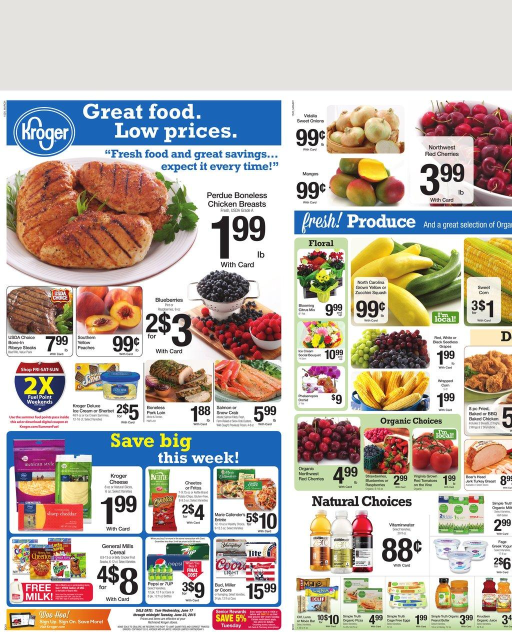 kroger ad preview 6 17 2015 great food sale