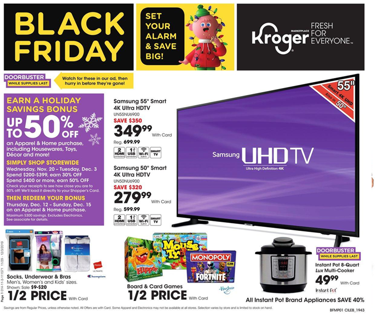 kroger black friday ad 2019